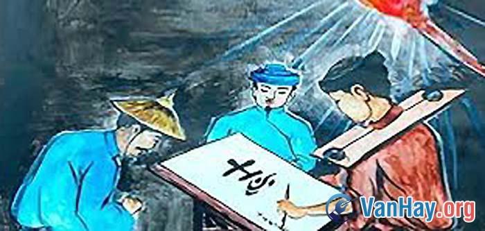 Bình giảng đoạn văn tả cảnh Huấn Cao cho chữ trong nhà giam trong truyện ngắn Chữ người tử tù của Nguyễn Tuân. Vì sao tác giả coi đó là một cảnh tượng xưa nay chưa từng có?