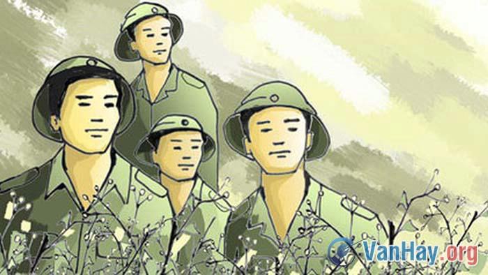 Bình giảng đoạn thơ sau trong bài Tây Tiến của Quang Dũng: Tây Tiến đoàn binh không mọc tóc (...) Sông Mã gầm lên khúc độc hành